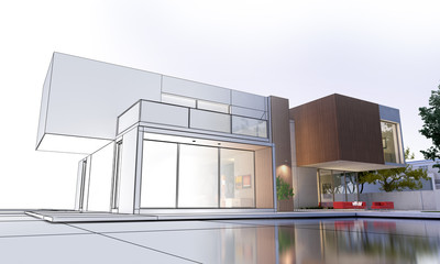 Modern luxurious home project evolution