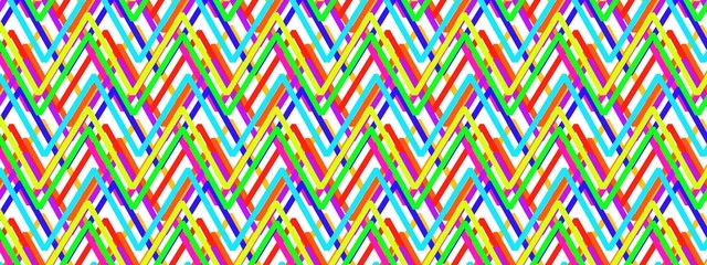 Colorful zigzag striped pattern for backgrounds cute pastel pink, baby yellow, purple and violet color and design - modern painting art - Illustration.