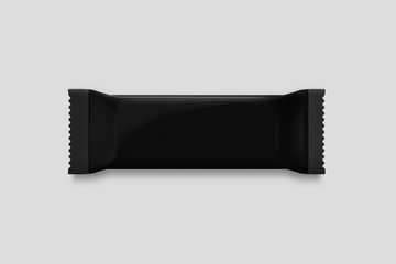 Chocolate packaging Mock-up isolated on soft gray background.Can be used for your design and branding.3D illustration.