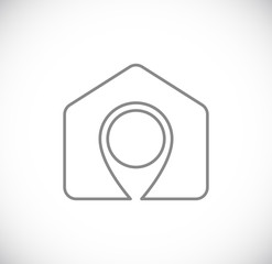 house pin map pointer icon