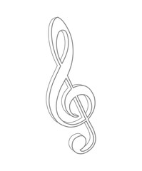 g-clef music note key icon