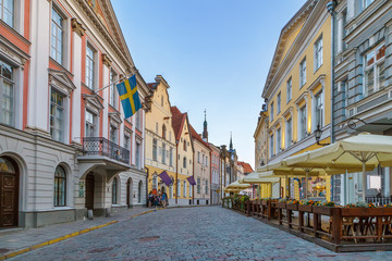 Street in Tallinn, Estonia