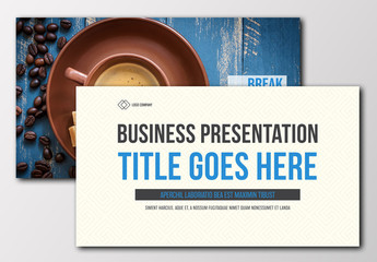 Business Presentation Layout with Blue Accents