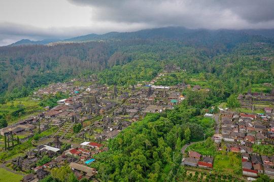 Balinese Temple Pura Besakih, aerial view, Bali, Indonesia