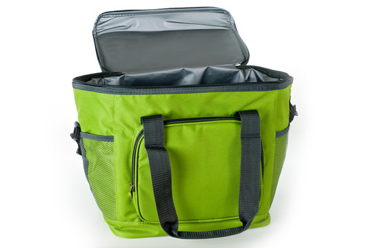 Bag cooler bright green for carrying and storing products