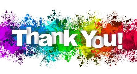 Paint Splatter - Thank you