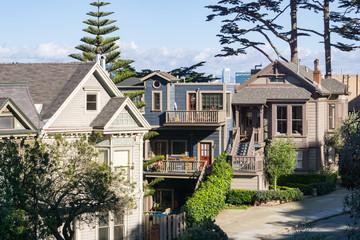 San Francisco houses, California