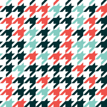 Hounds tooth - retro geometric pattern for clothing fashion. Seamless classic vector background. Vintage textile texture.