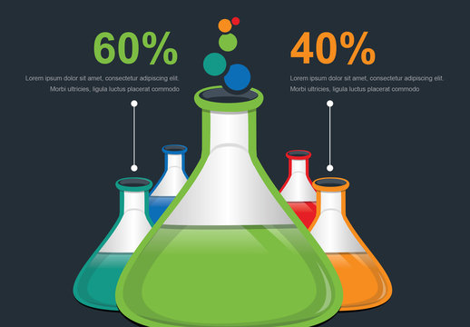 Infographic Layout with Test Tube Illustrations