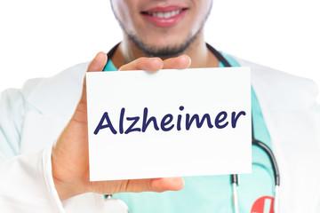 Arzt Doktor Alzheimer Vorsorge krank Krankheit gesund Gesundheit