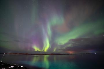 Tuinposter Noorderlicht Aurora borealis