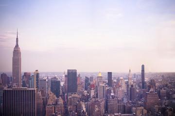 USA, New York City, Manhattan in the evening