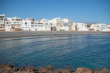 Small village and its blue bay.