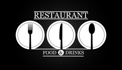 Logo for the menu of the restaurant catering or gastro service