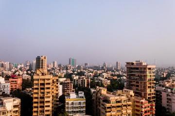 mumbai skyline view or arial view of mumbai city