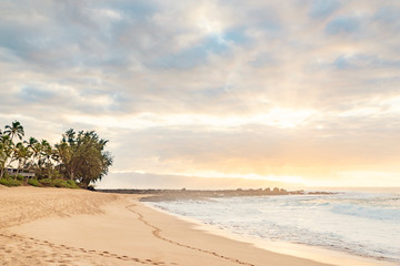 Ke Ike Beach Sunset Hawaii