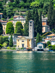 Italy, Lombardy, Lake Como, Carate Urio, townscape