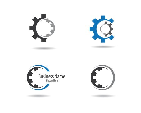 Gear machinery logo icon