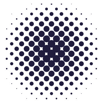 dotted sunburst pattern background