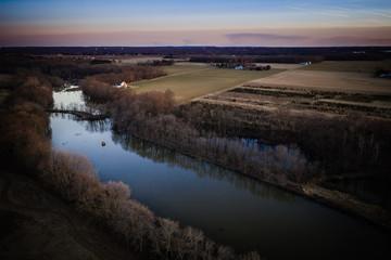 Aerial of Plainsboro Sunset