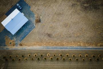 Aerial of Plainsboro Sunset  Wall mural