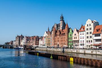 Poland, Gdansk, Hanseatic League houses on the Motlawa river