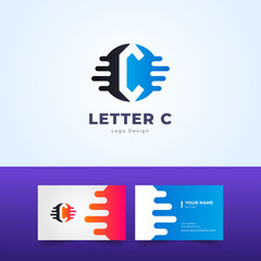 Modern Letter C Logo Design and Illustration for All Type of Business