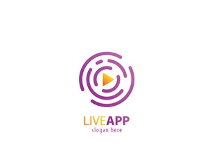 Live app video logo