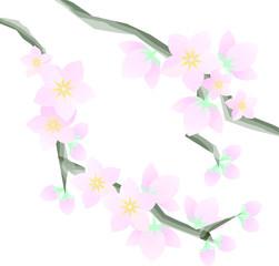 桃の花パーツ