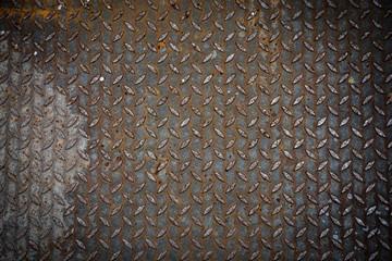 Grunge metal plate texture