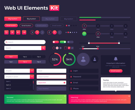 Big, huge, enhanced ui kit, web ui ux elements