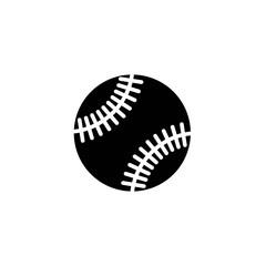 baseball glyph vector icon