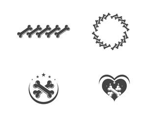 Bone icon Vector illustration