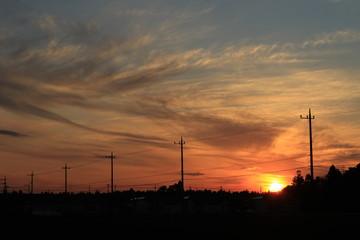 夕焼け 夕陽