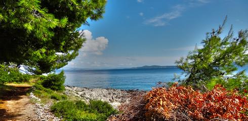 Wyspa Ciovo, Okrug Gorjni widok na morze, Chorwacja