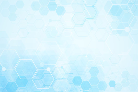 Medical background design. Geometric abstract background with hexagons.