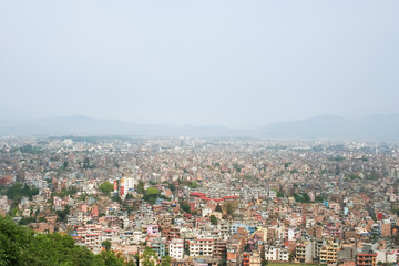 The city is surrounded by high mountains.