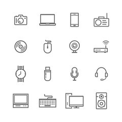 set of electronic and computer icons