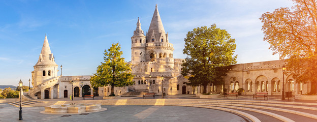 View at the Fisherman's Bastion, Budapest (panoramic)
