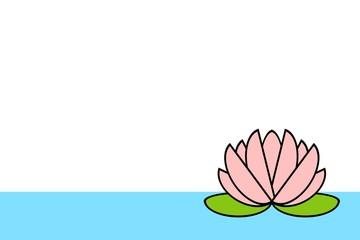 水に浮かぶスイレン