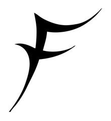 Tribal Letter F - Tribal Tattoo Design