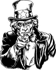 Uncle Sam Vector Illustration