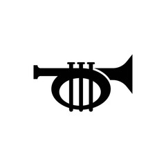 Bugle monochrome icon in trendy isolated on white background. vector illustration, EPS 10. vector