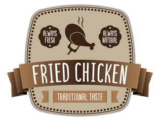 Fried Chicken Label