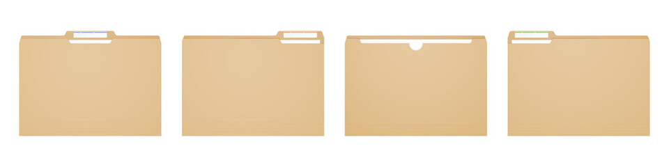 Fototapeta Manila folder for reports and archive cases.