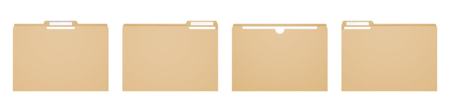 Manila folder for reports and archive cases.
