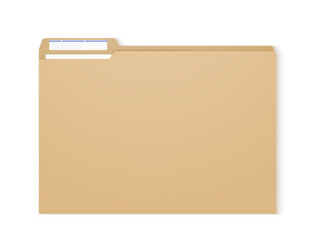 Manila folder. Paper case archive for document and reports.
