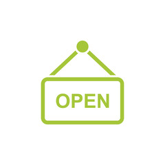 open icon isolated vector