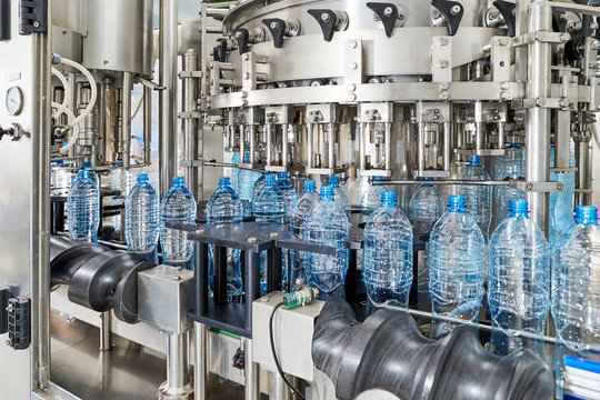 Modern automated mineral water bottling line