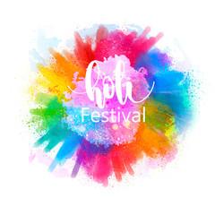 illustration of Happy Holi for color festival of India celebration, holi splash background